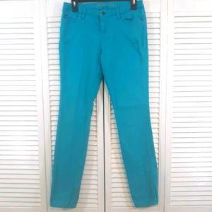 Michael kors turquoise skinny Jeans sz 4 *7